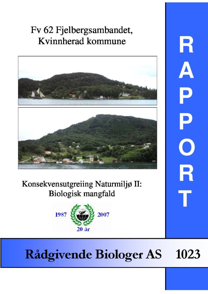Rapport cover - rapport 1023