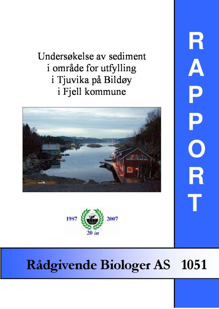 Rapport cover - rapport 1051