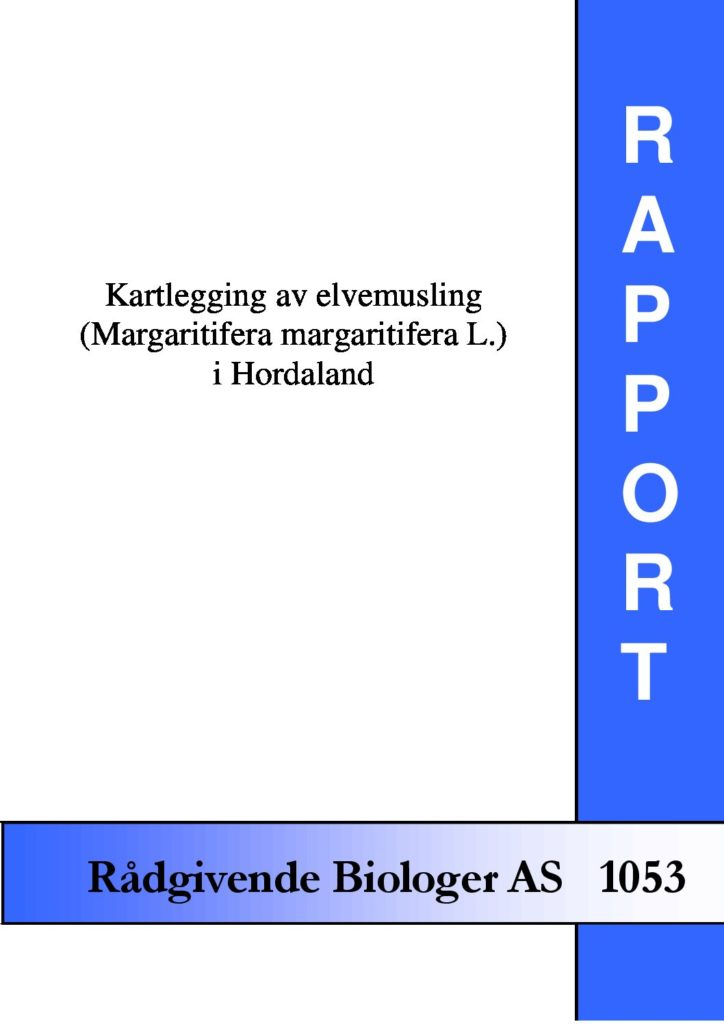 Rapport cover - rapport 1053