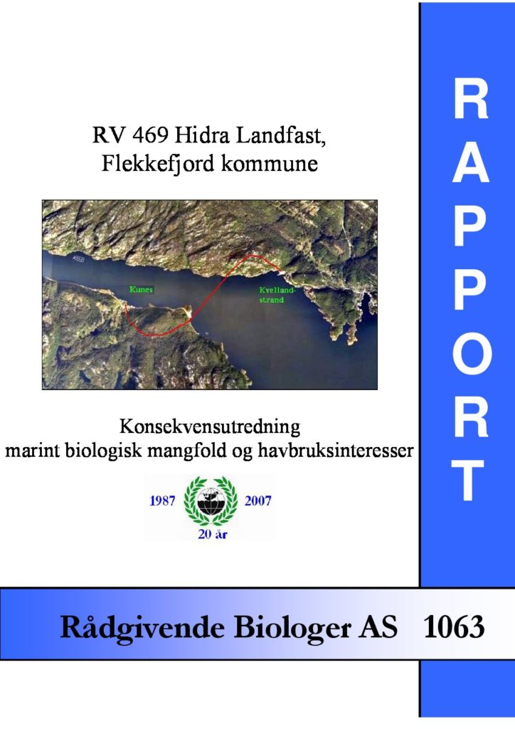 Rapport cover - rapport 1063