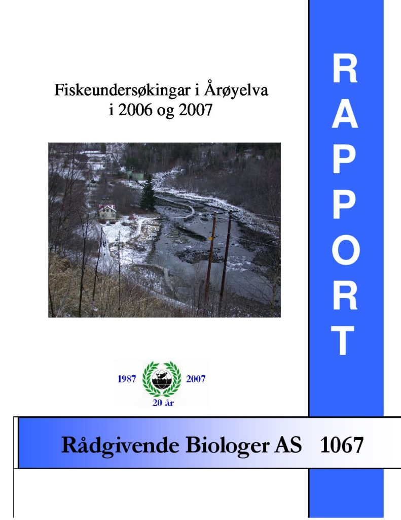 Rapport cover - rapport 1067