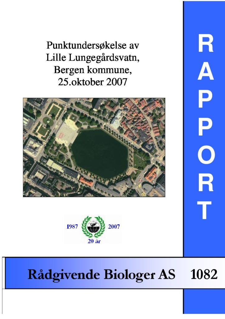 Rapport cover - rapport 1082
