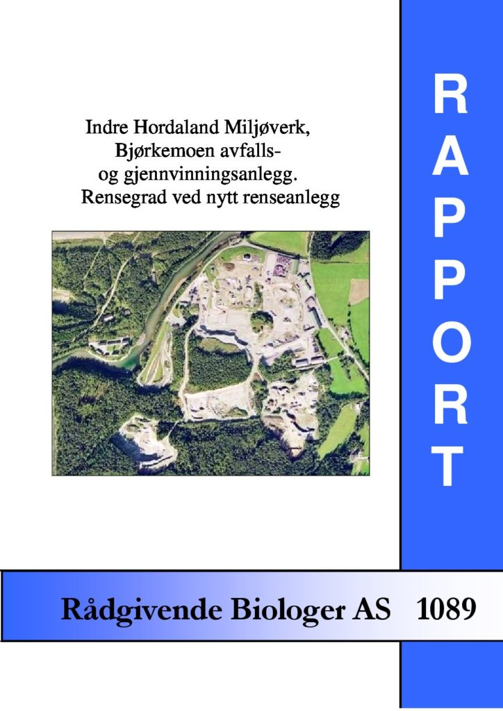 Rapport cover - rapport 1089