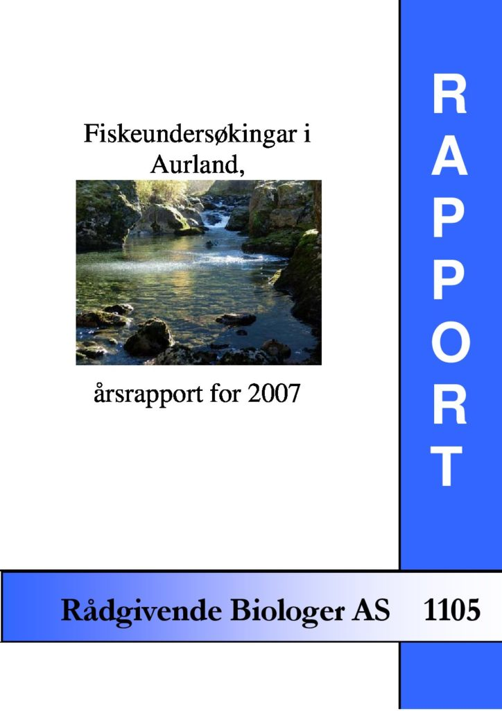 Rapport cover - rapport 1105