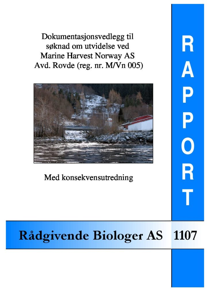 Rapport cover - rapport 1107