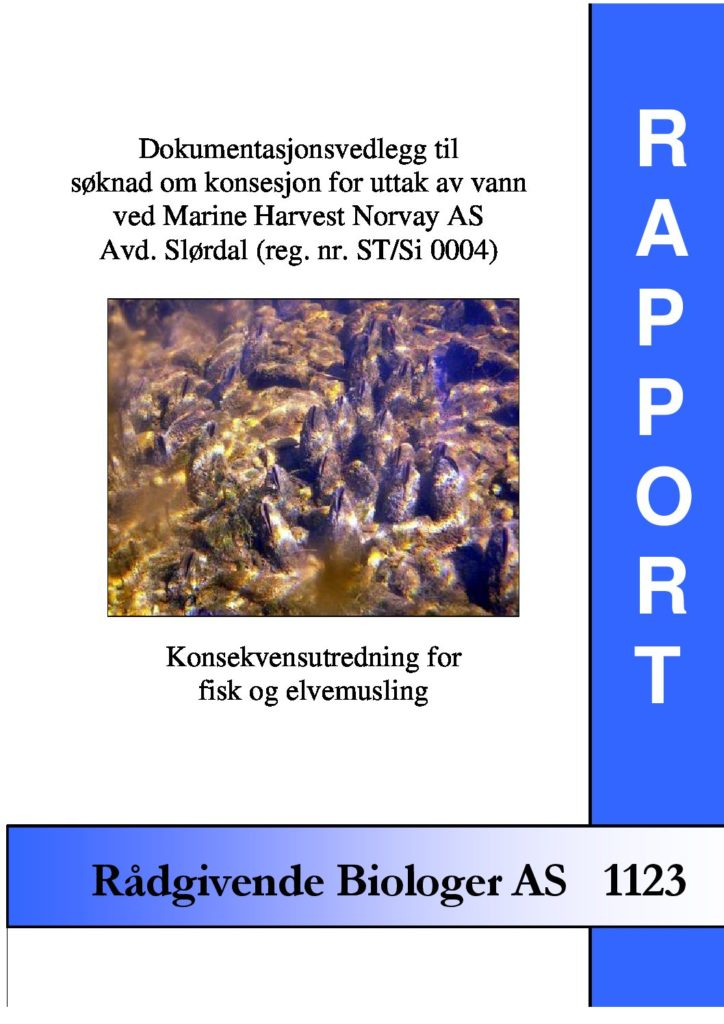 Rapport cover - rapport 1123