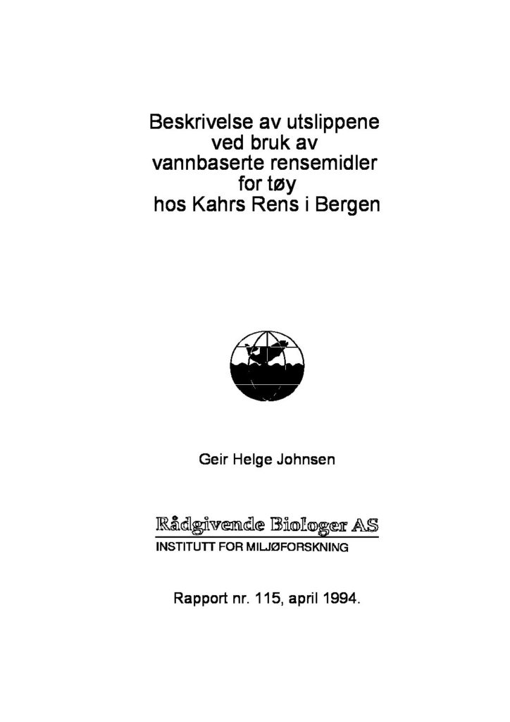 Rapport cover - rapport 115