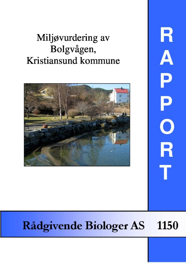 Rapport cover - rapport 1150