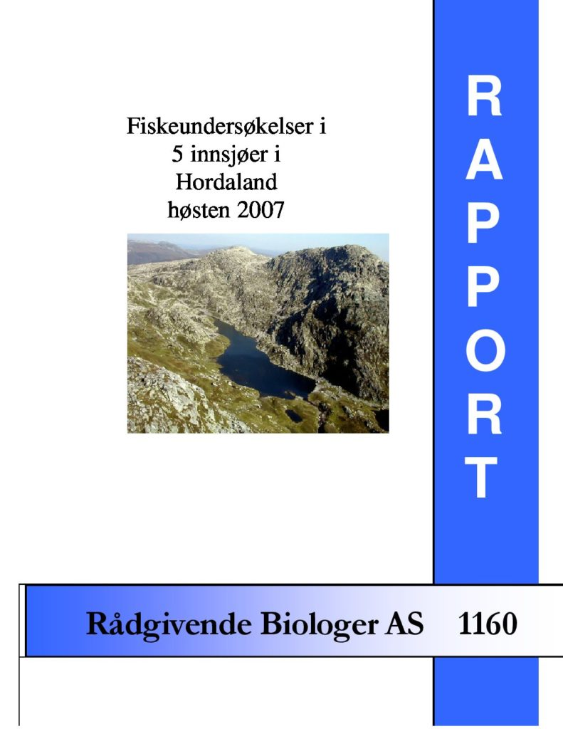 Rapport cover - rapport 1160
