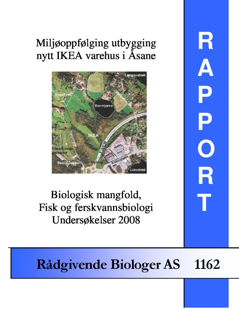 Rapport cover - rapport 1162