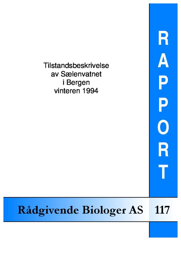 Rapport cover - rapport 117