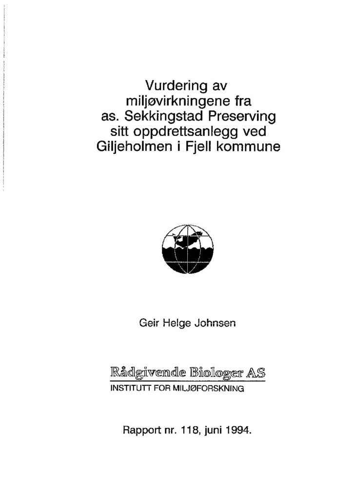 Rapport cover - rapport 118