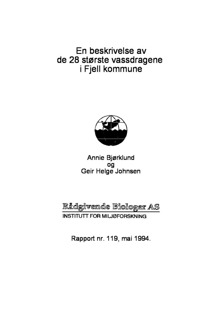 Rapport cover - rapport 119