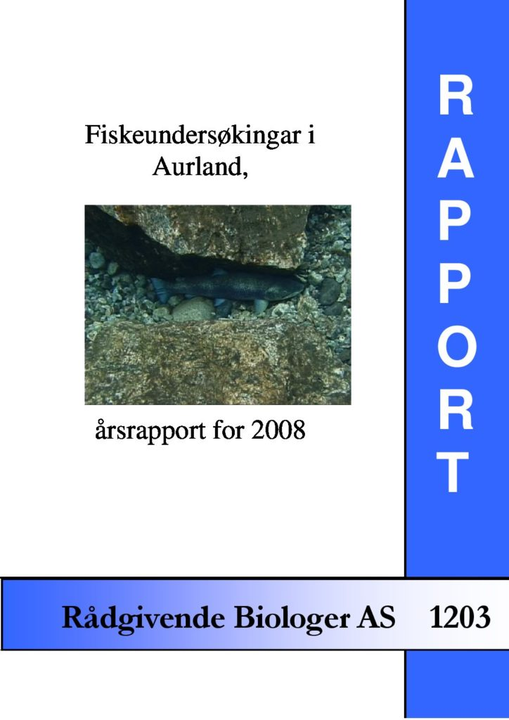 Rapport cover - rapport 1203