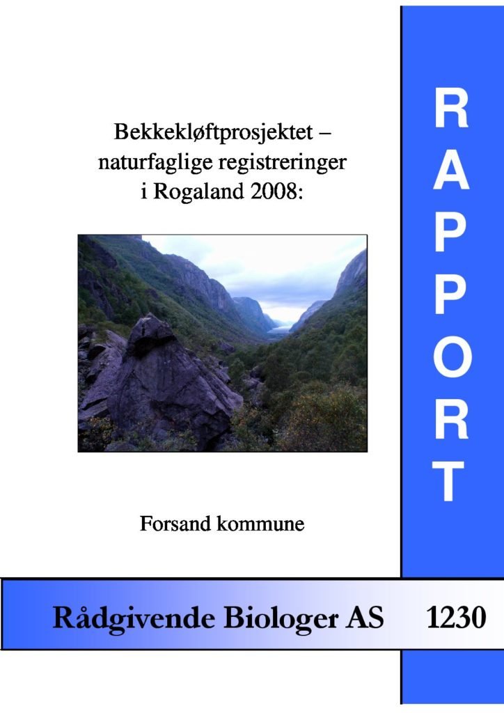 Rapport cover - rapport 1230