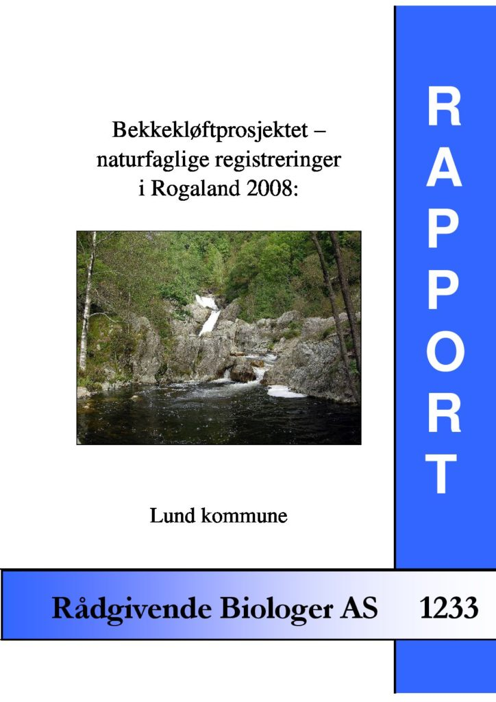 Rapport cover - rapport 1233