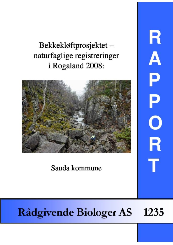 Rapport cover - rapport 1235