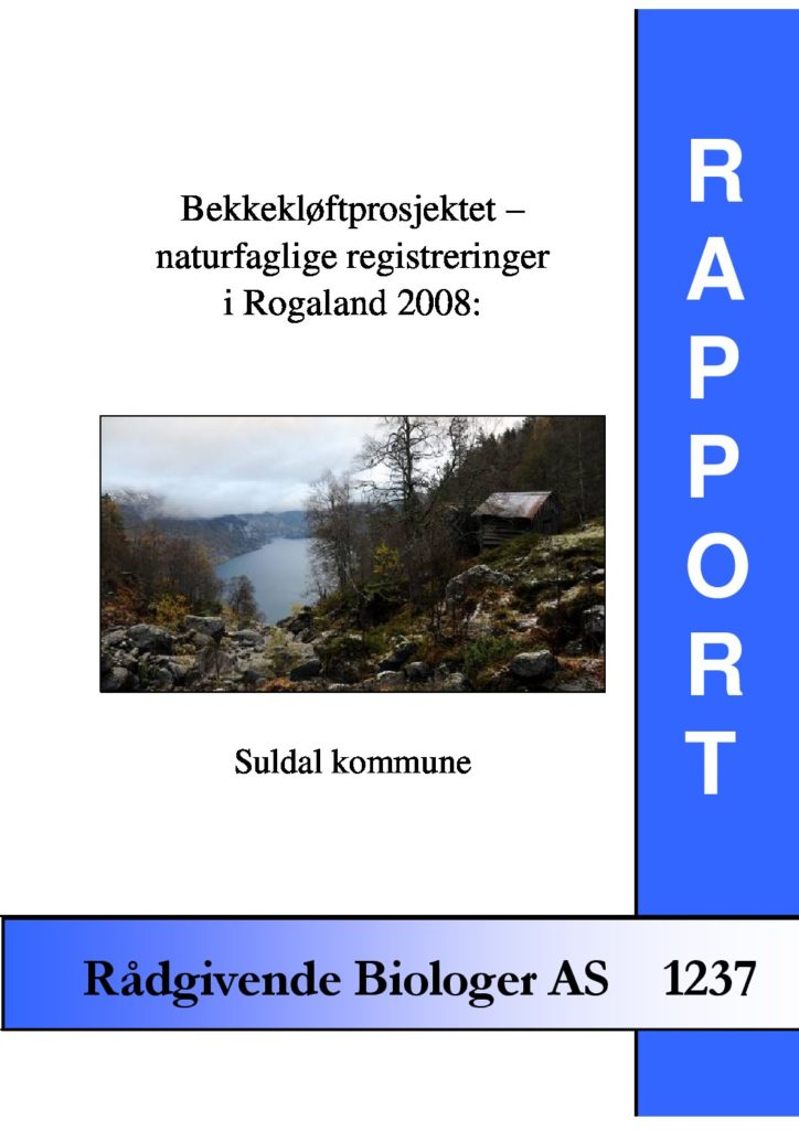 Rapport cover - rapport 1237
