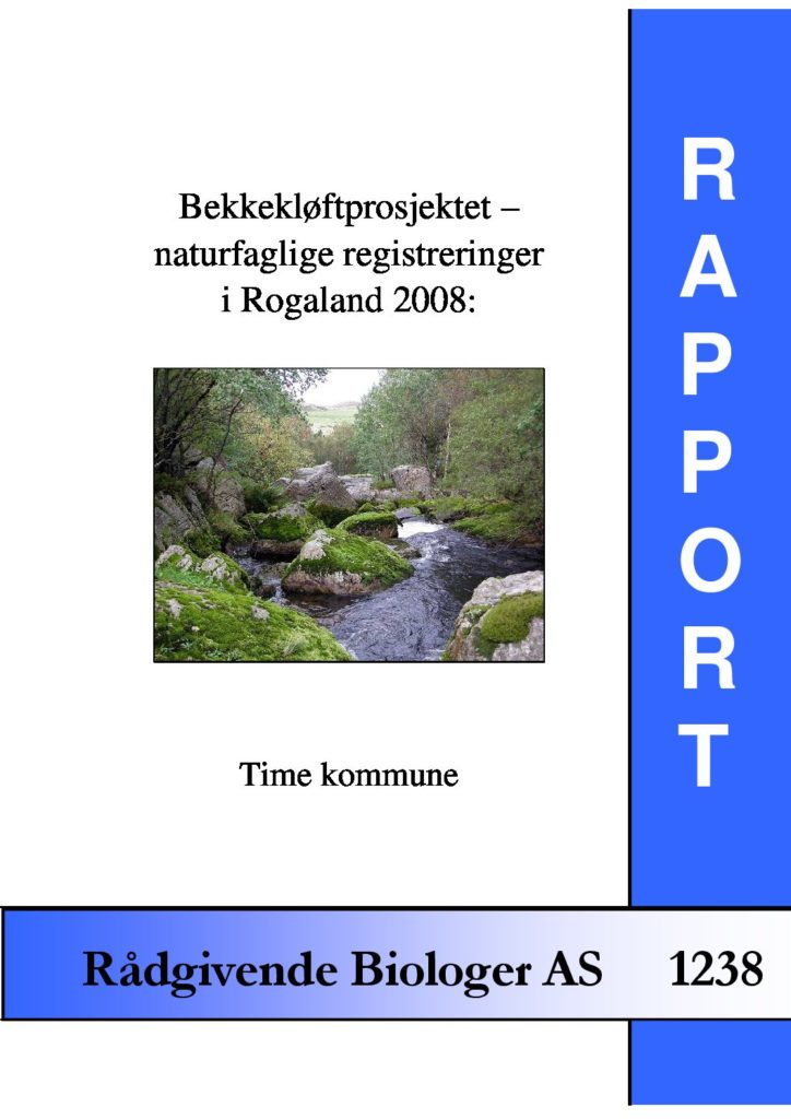 Rapport cover - rapport 1238