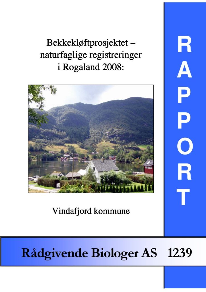 Rapport cover - rapport 1239