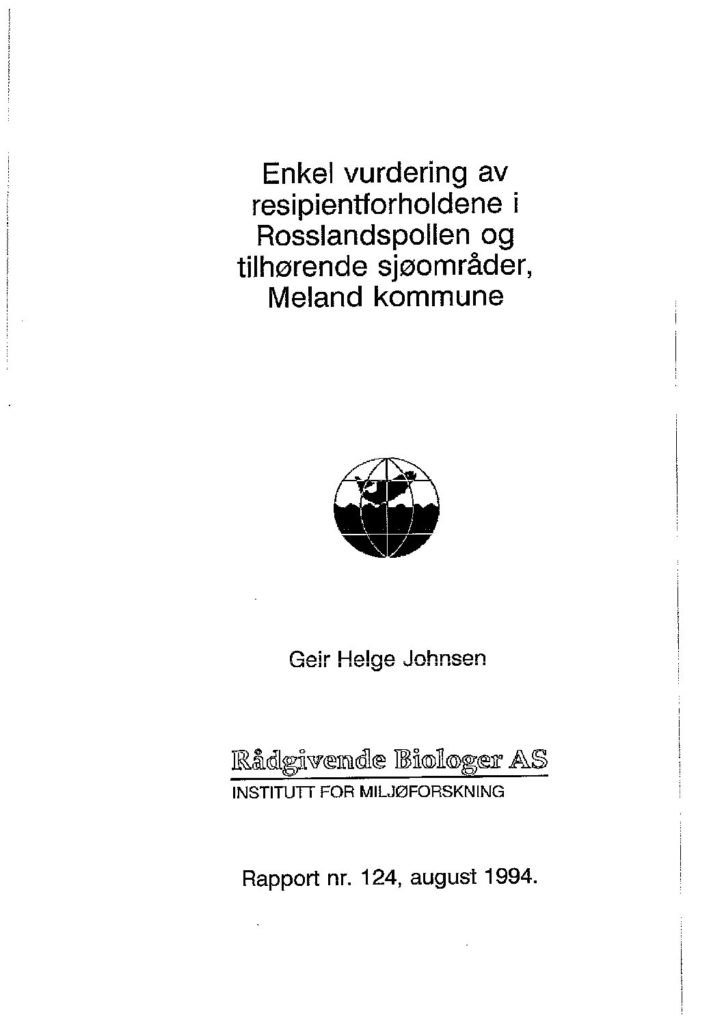 Rapport cover - rapport 124