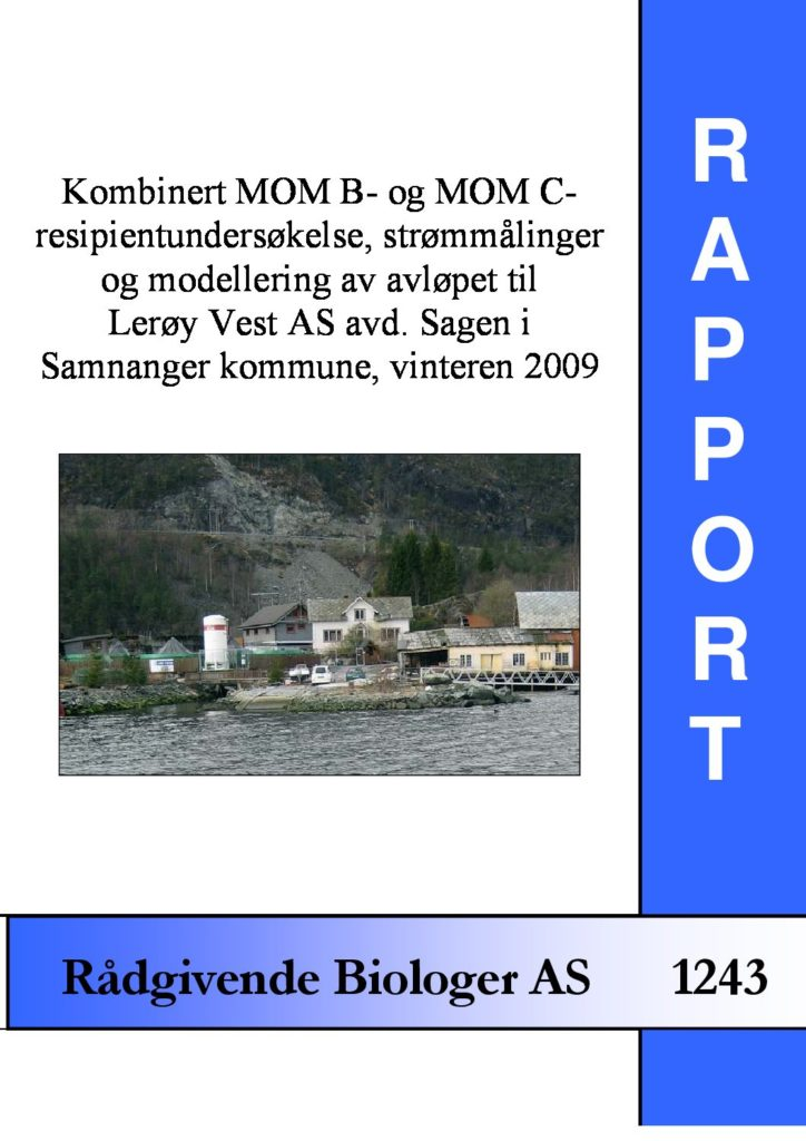 Rapport cover - rapport 1243
