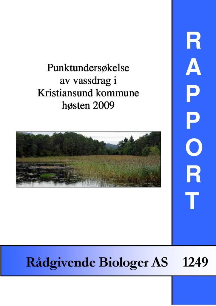 Rapport cover - rapport 1249