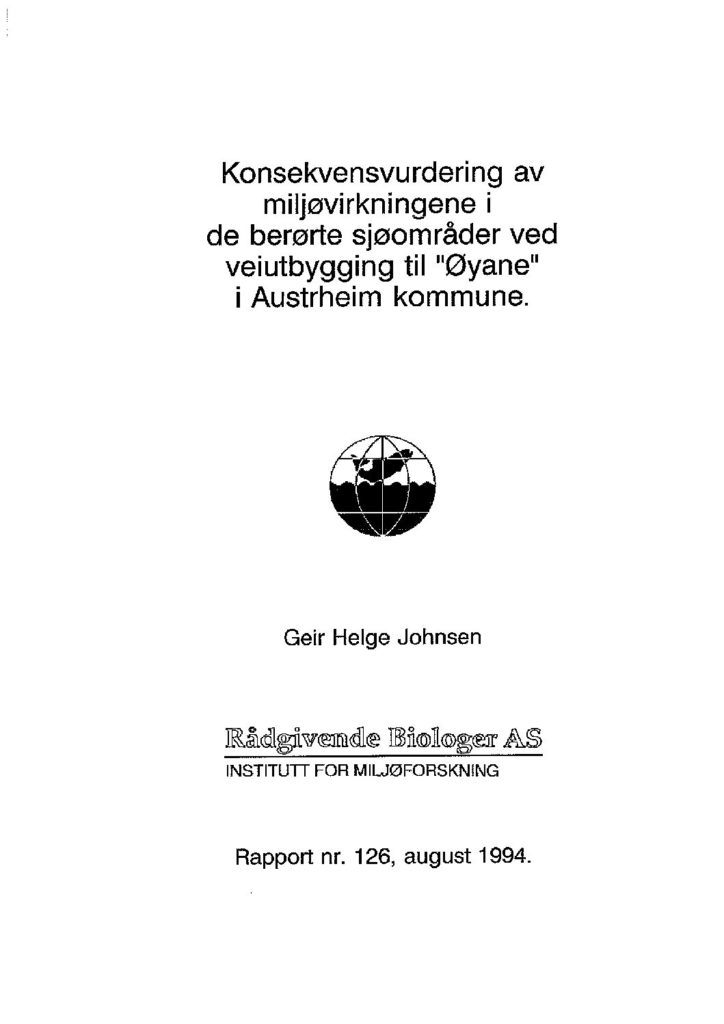 Rapport cover - rapport 126