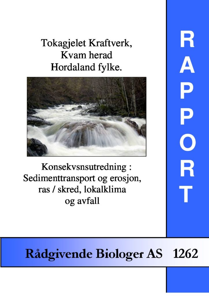 Rapport cover - rapport 1262