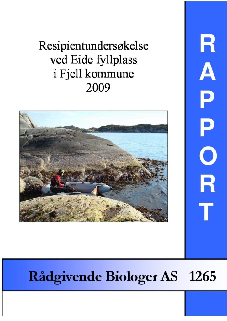 Rapport cover - rapport 1265