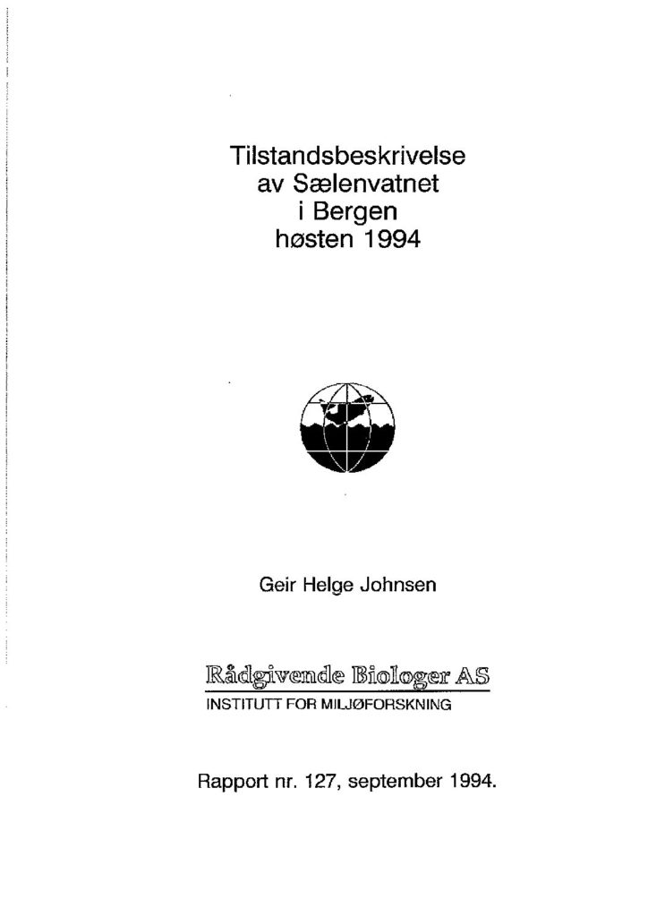 Rapport cover - rapport 127