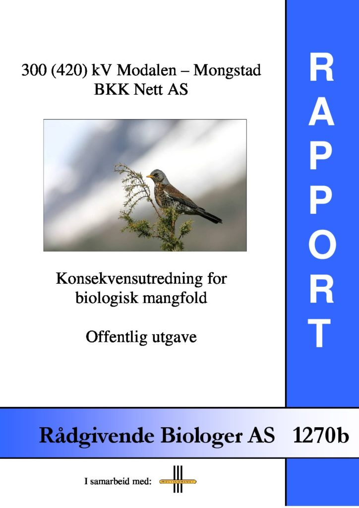 Rapport cover - rapport 1270b