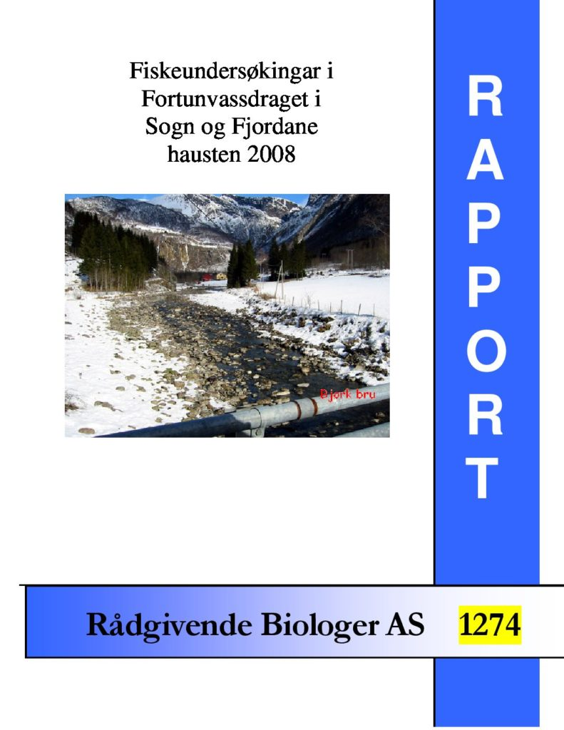 Rapport cover - rapport 1274
