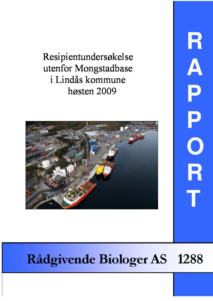 Rapport cover - rapport 1288