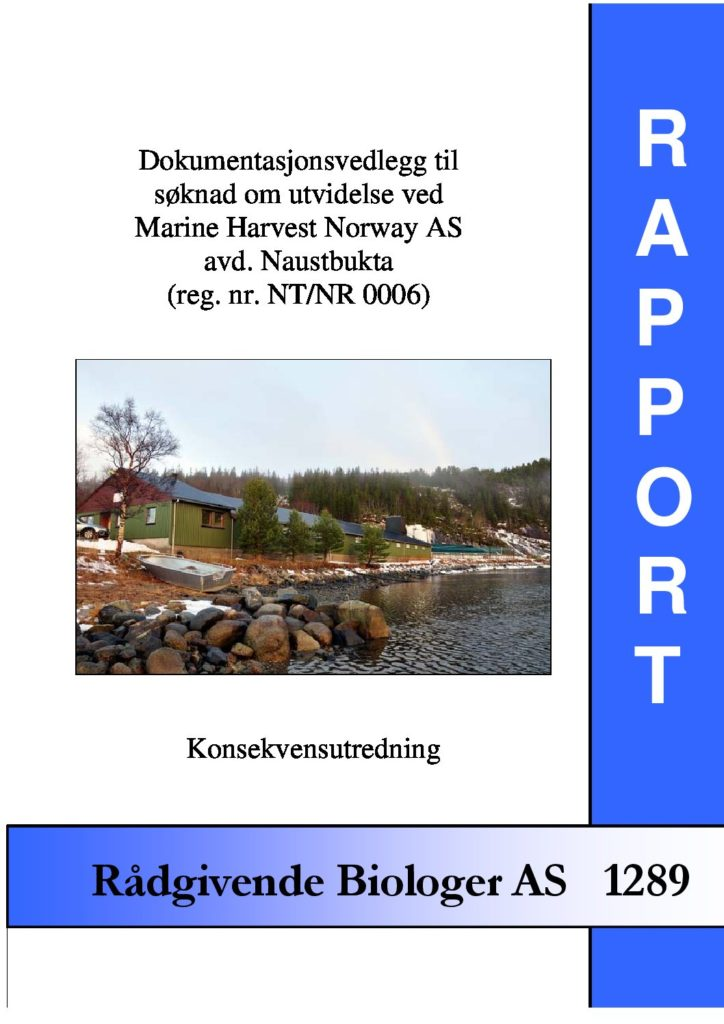 Rapport cover - rapport 1289