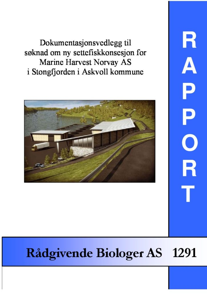 Rapport cover - rapport 1291