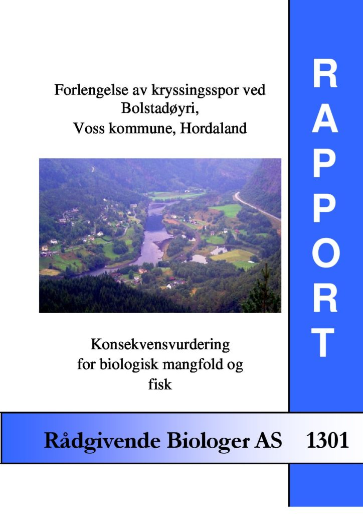 Rapport cover - rapport 1301
