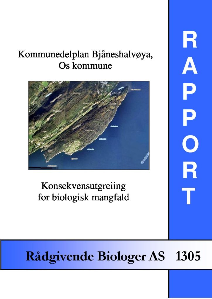 Rapport cover - rapport 1305
