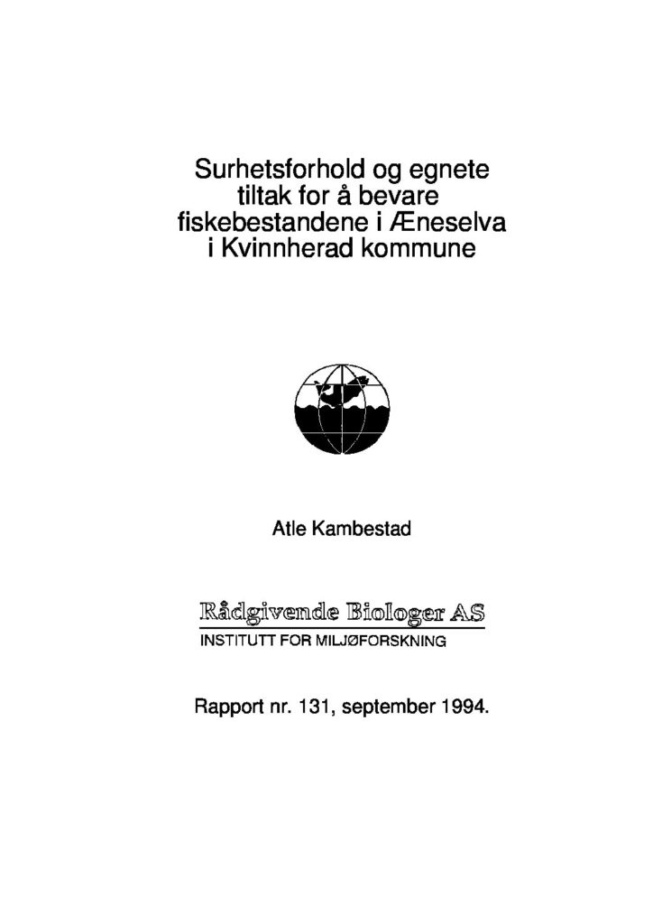 Rapport cover - rapport 131
