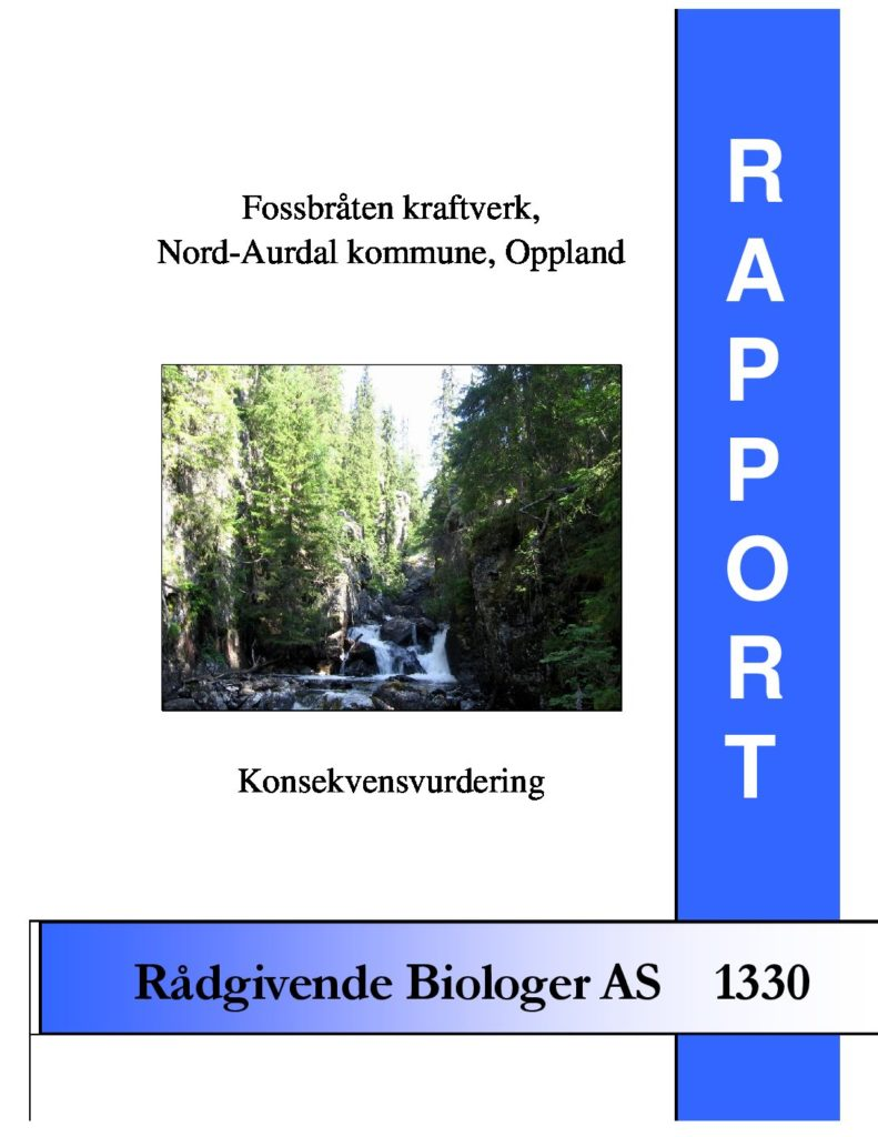 Rapport cover - rapport 1330