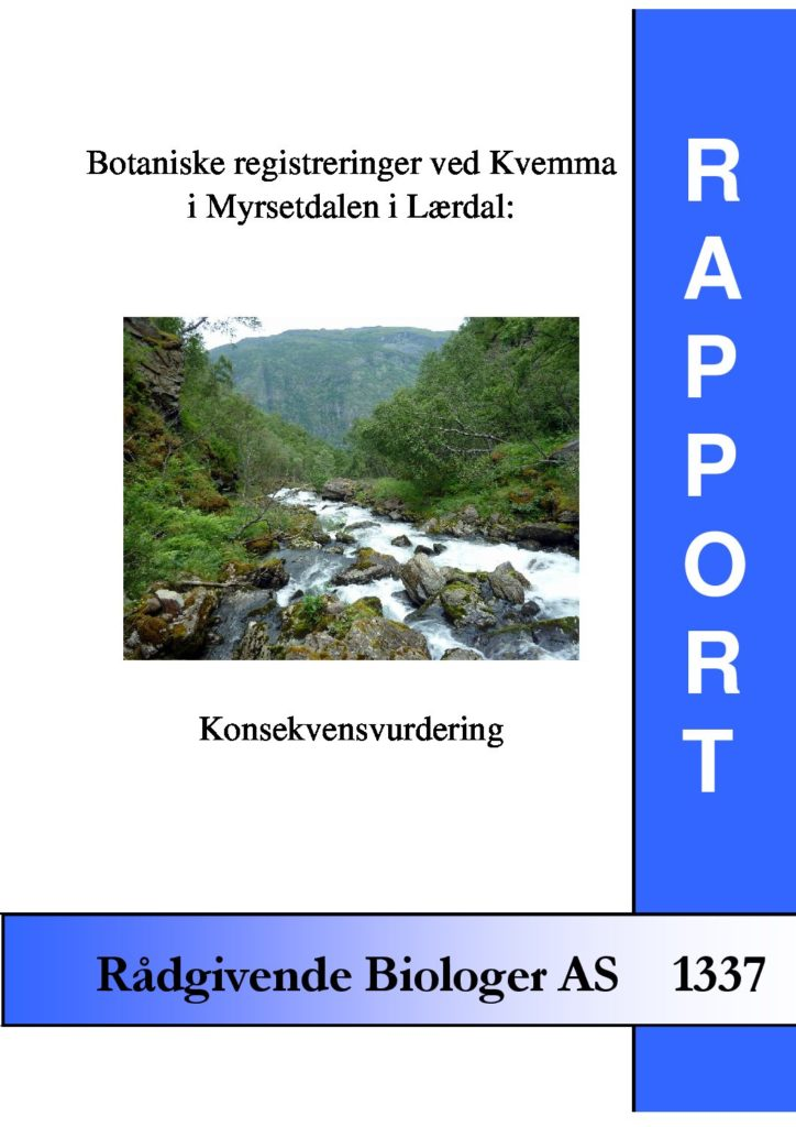 Rapport cover - rapport 1337