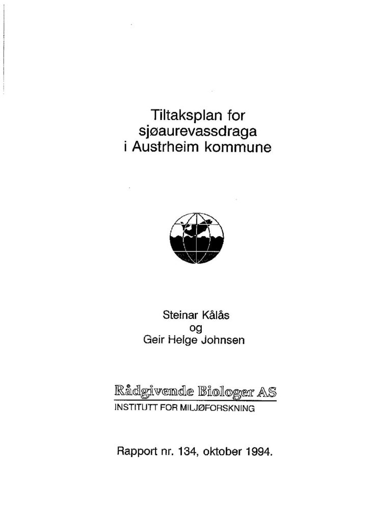Rapport cover - rapport 134
