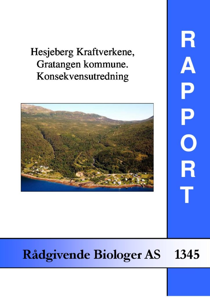 Rapport cover - rapport 1345