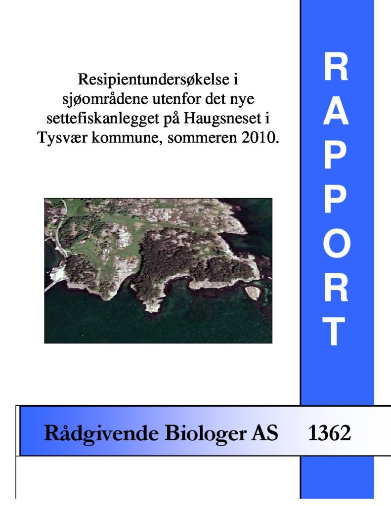 Rapport cover - rapport 1362