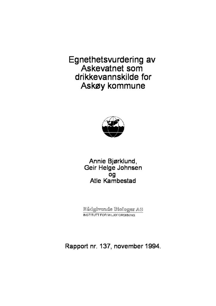 Rapport cover - rapport 137