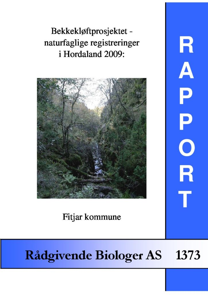 Rapport cover - rapport 1373