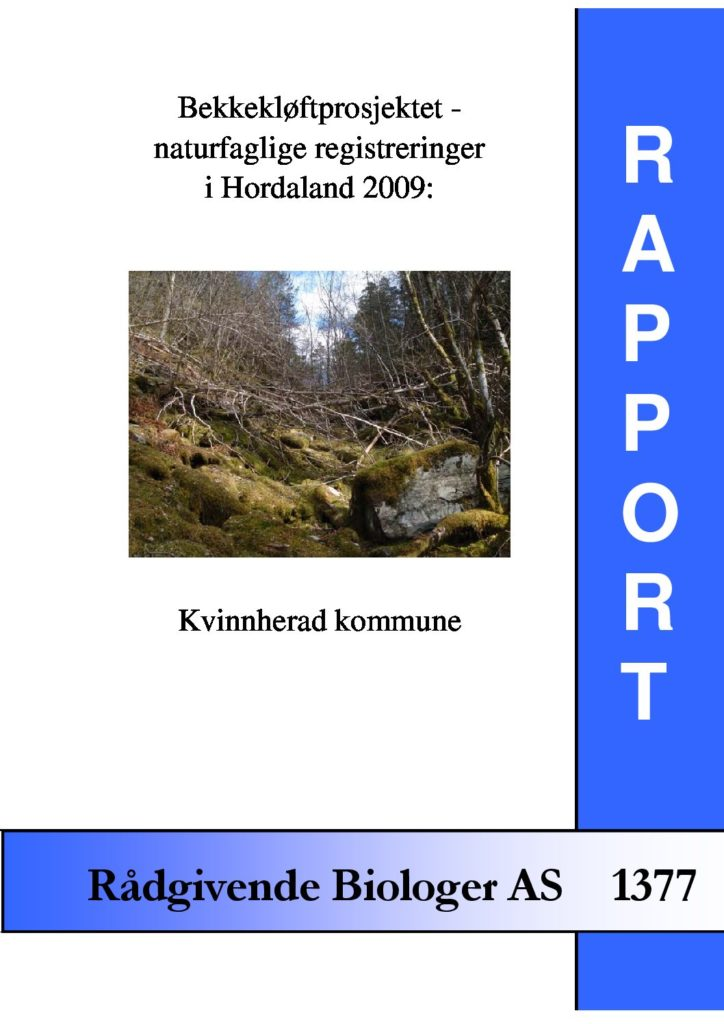 Rapport cover - rapport 1377