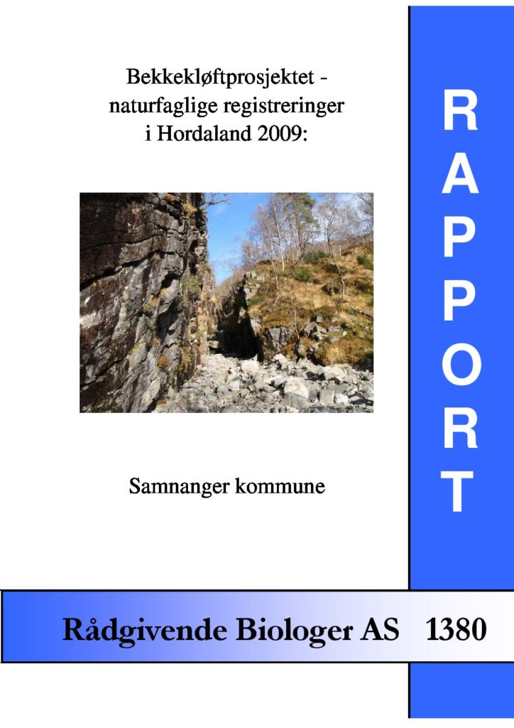 Rapport cover - rapport 1380