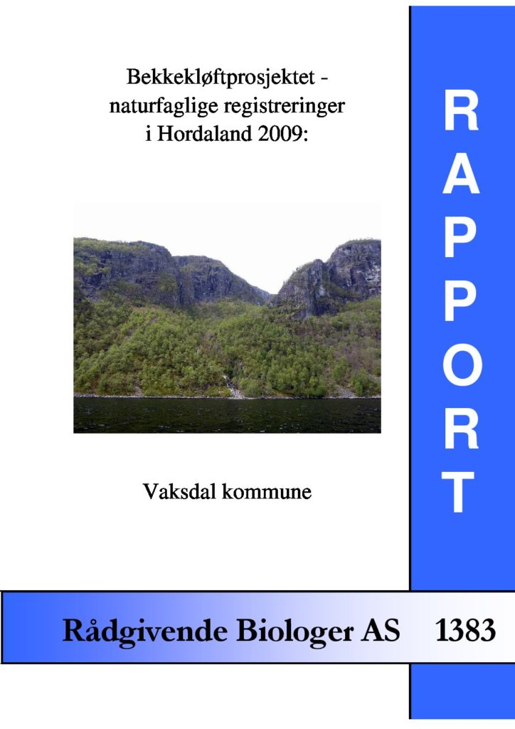 Rapport cover - rapport 1383