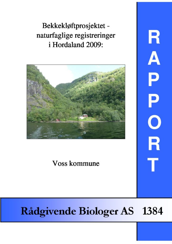 Rapport cover - rapport 1384